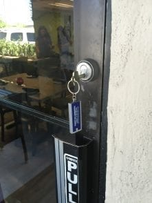 commercial locksmith, replacing door locks to high secure business locks for new restaurant in Scottsdale , 85257.