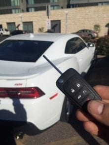 new replacement car key for Chevy camero 2014 in phoenix.